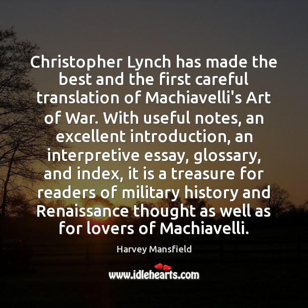 Image, Christopher Lynch has made the best and the first careful translation of