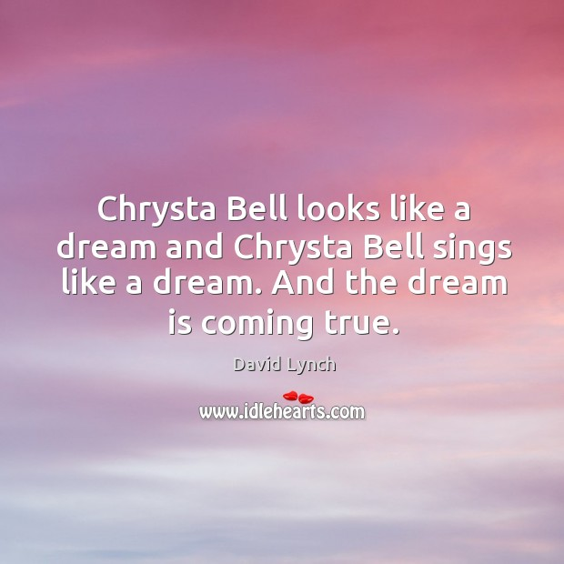 Image, Chrysta Bell looks like a dream and Chrysta Bell sings like a