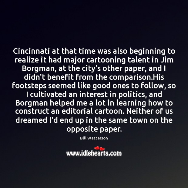 Cincinnati at that time was also beginning to realize it had major Image