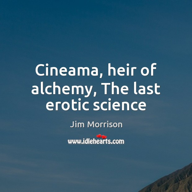 Cineama, heir of alchemy, The last erotic science Image