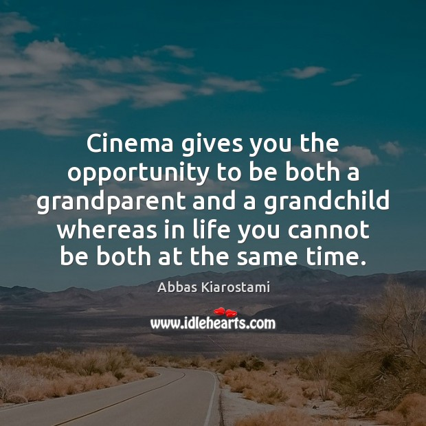 Image, Cinema gives you the opportunity to be both a grandparent and a