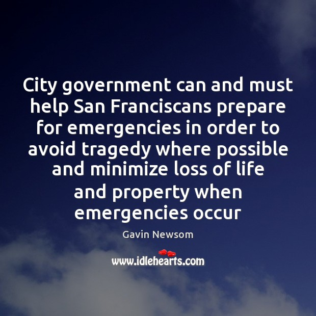 City government can and must help San Franciscans prepare for emergencies in Image