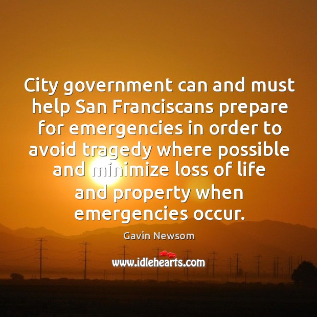 City government can and must help san franciscans prepare for emergencies Image