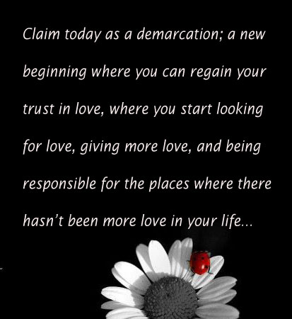 Claim Today As A Demarcation; A New Beginning.