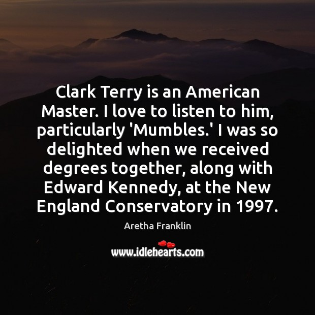 Clark Terry is an American Master. I love to listen to him, Image