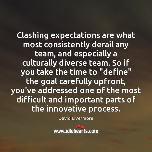 Clashing expectations are what most consistently derail any team, and especially a Team Quotes Image