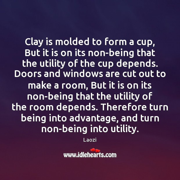 Image, Clay is molded to form a cup, But it is on its