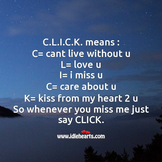 Click means.. Image