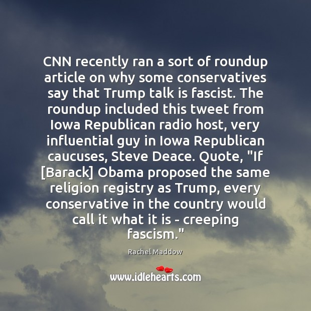 CNN recently ran a sort of roundup article on why some conservatives Image