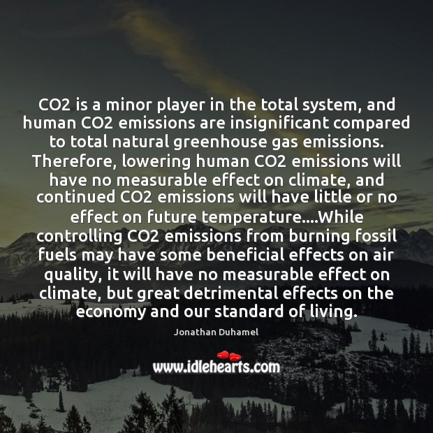 Image, CO2 is a minor player in the total system, and human CO2