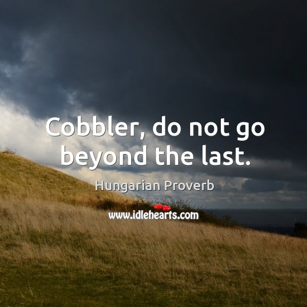 Image, Cobbler, do not go beyond the last.