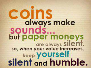 Image, Coins always make sounds.