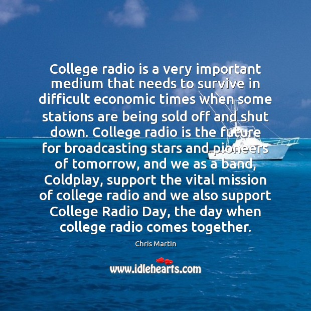 College radio is a very important medium that needs to survive in Image