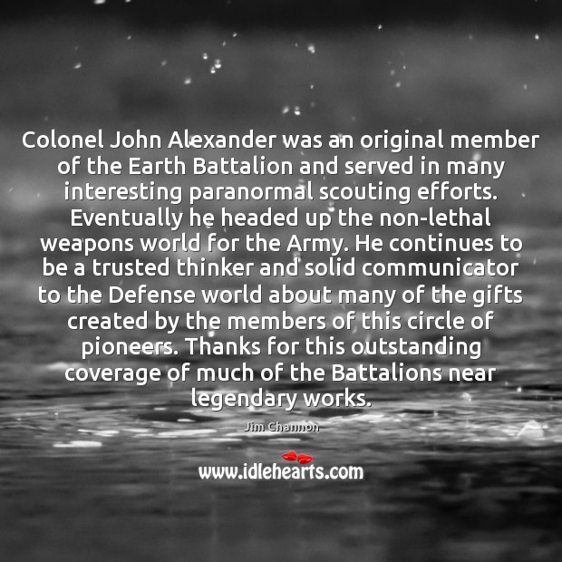 Image, Colonel John Alexander was an original member of the Earth Battalion and