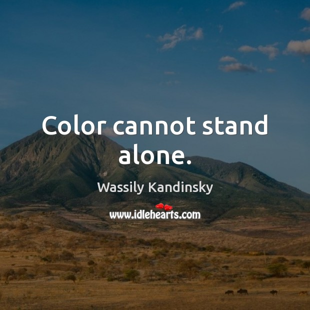 Image, Color cannot stand alone.