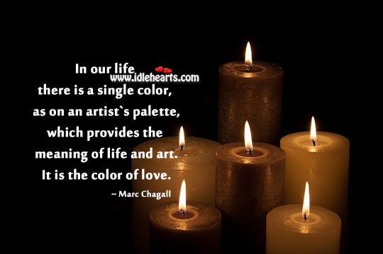 Image, In our life there is a single color.