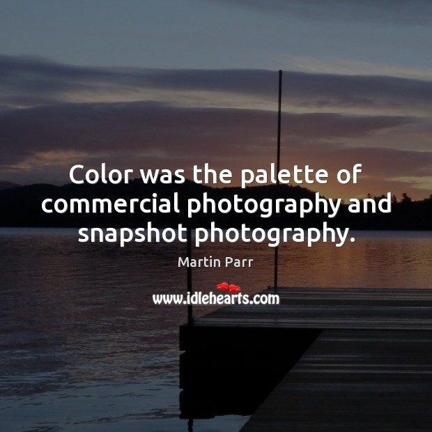 Color was the palette of commercial photography and snapshot photography. Image