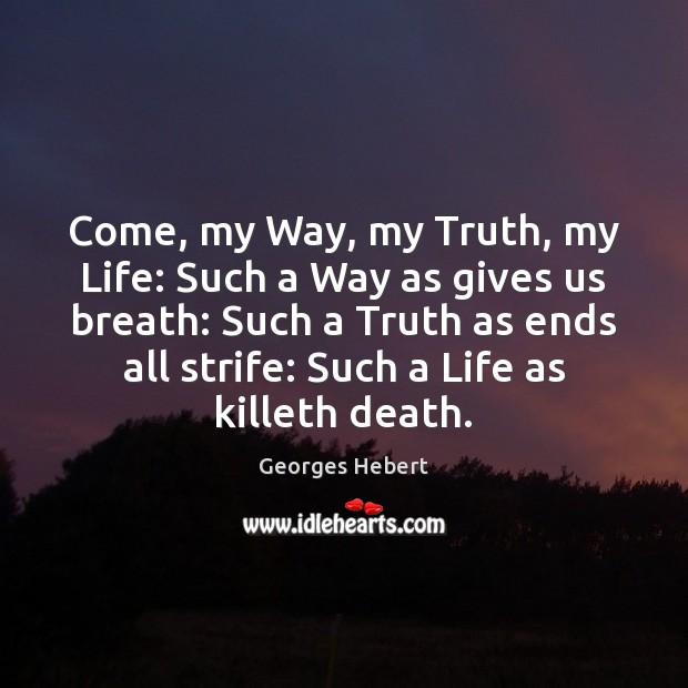 Come, my Way, my Truth, my Life: Such a Way as gives Image