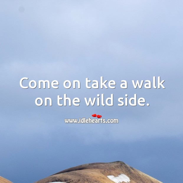 Come on take a walk on the wild side. Image