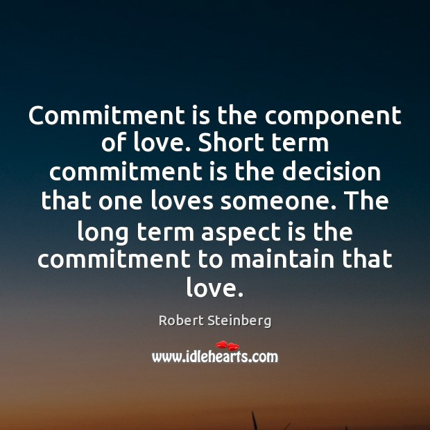 Image, Commitment is the component of love.