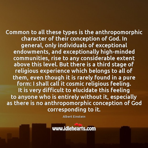 Image, Common to all these types is the anthropomorphic character of their conception