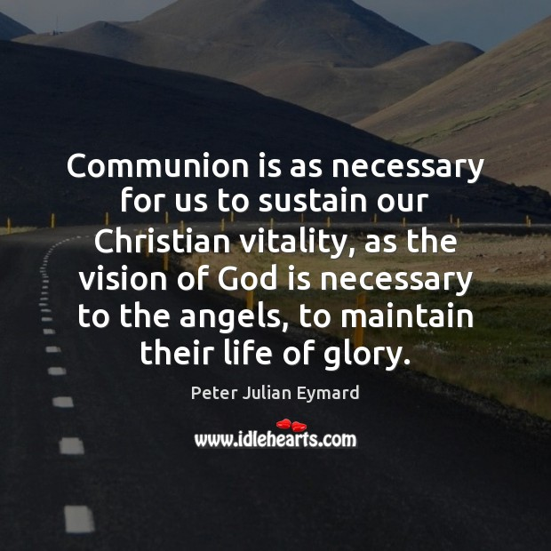 Communion is as necessary for us to sustain our Christian vitality, as Image
