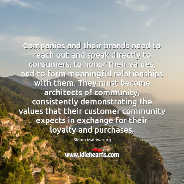 Image, Companies and their brands need to reach out and speak directly to