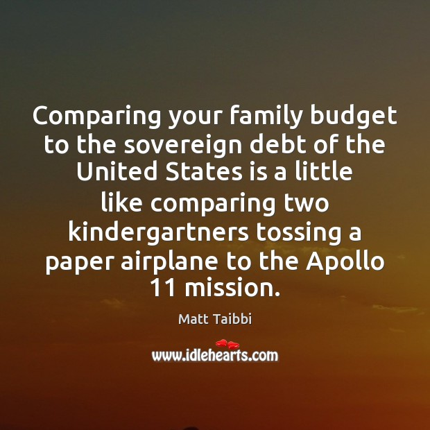 Image, Comparing your family budget to the sovereign debt of the United States