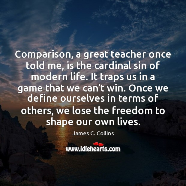 Comparison, a great teacher once told me, is the cardinal sin of Image