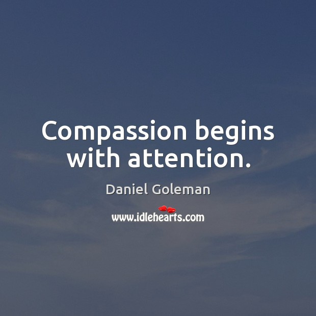 Image, Compassion begins with attention.