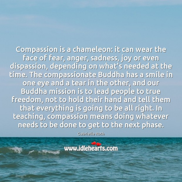 Compassion is a chameleon: it can wear the face of fear, anger, Gabrielle Roth Picture Quote