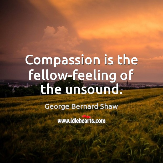 Compassion is the fellow-feeling of the unsound. Image