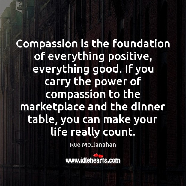 Compassion is the foundation of everything positive, everything good. If you carry Compassion Quotes Image