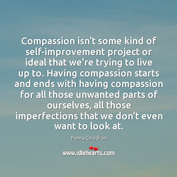 Image, Compassion isn't some kind of self-improvement project or ideal that we're trying