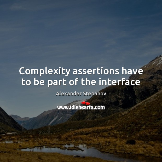 Image, Complexity assertions have to be part of the interface