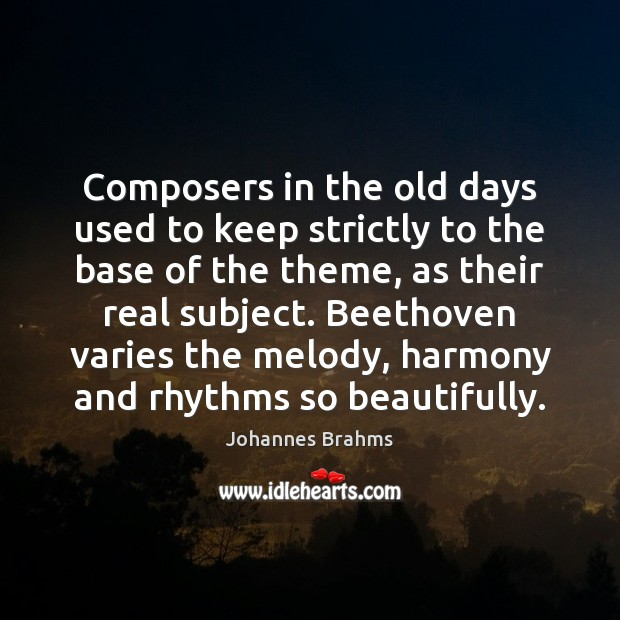 Composers in the old days used to keep strictly to the base Image