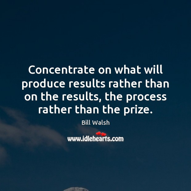 Image, Concentrate on what will produce results rather than on the results, the