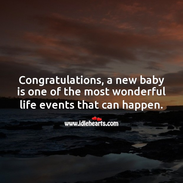 Congratulations, a new baby is one of the most wonderful life events. Baby Shower Messages Image
