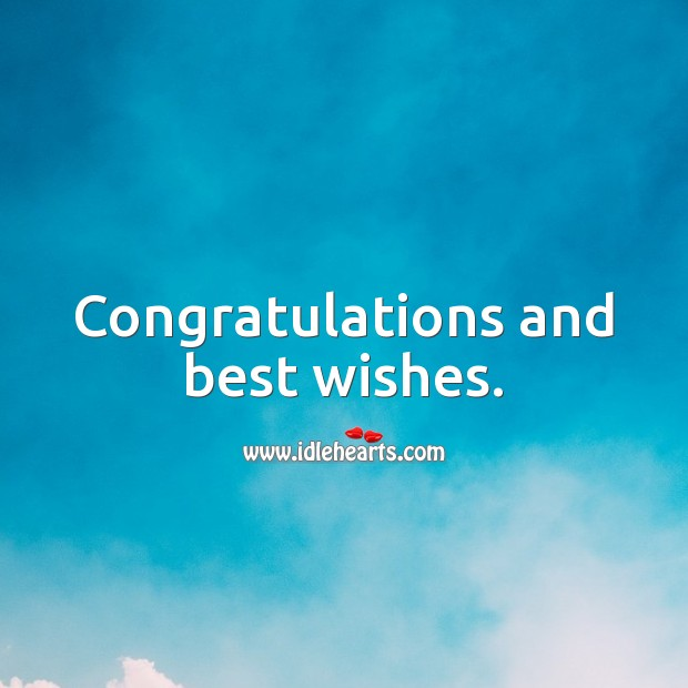 Congratulations and best wishes. Engagement Messages Image
