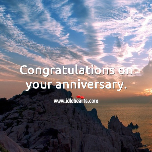 Congratulations on your anniversary. Image