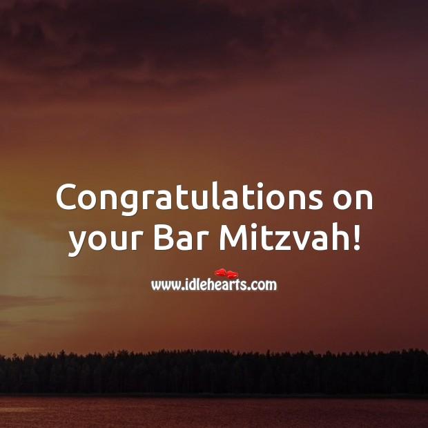 Congratulations on your Bar Mitzvah! Bar Mitzvah Messages Image