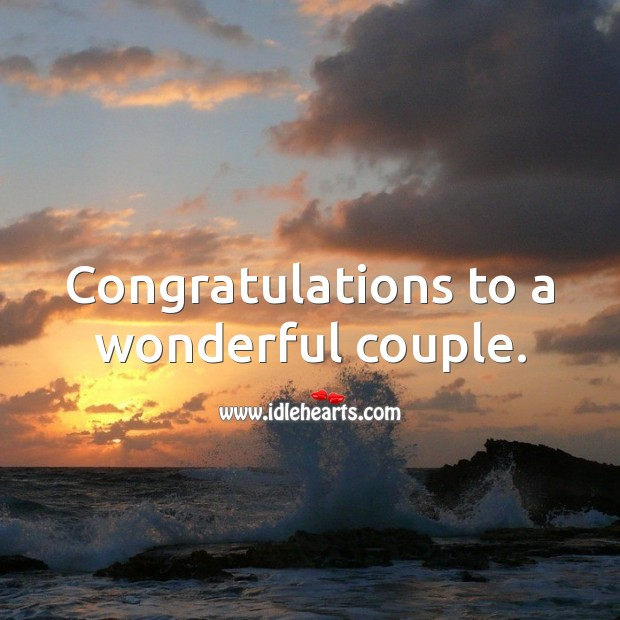 Congratulations to a wonderful couple. Wedding Messages Image