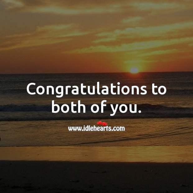 Congratulations to both of you. Wedding Messages Image