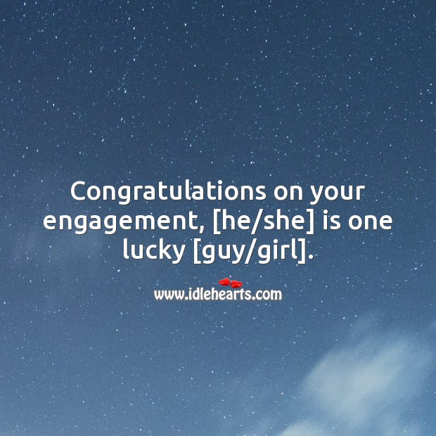 Congratulations to both on your engagement. Engagement Quotes Image