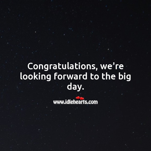 Congratulations, we're looking forward to the big day. Baby Shower Messages Image