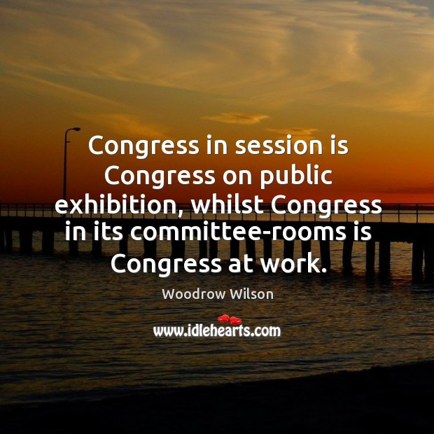 Image, Congress in session is Congress on public exhibition, whilst Congress in its
