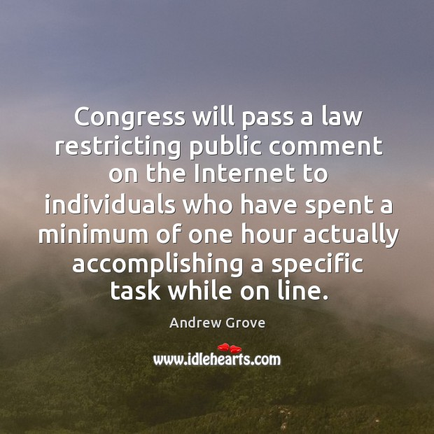 Image, Congress will pass a law restricting public comment on the internet