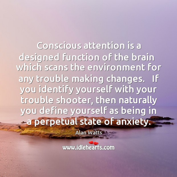 Conscious attention is a designed function of the brain   which scans the Image