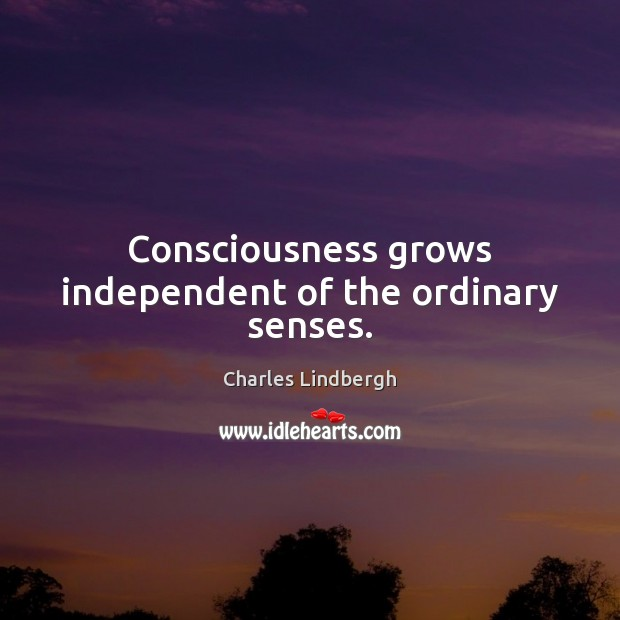 Image, Consciousness grows independent of the ordinary senses.