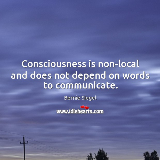 Image, Consciousness is non-local and does not depend on words to communicate.